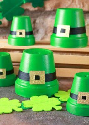 Clay Pot Leprechaun Hats