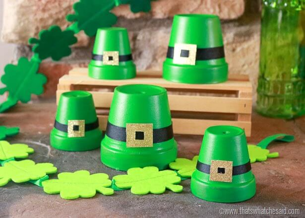 Leprechaun Hats from Clay Pot Crafts