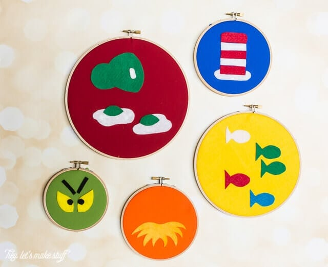 Dr. Seuss Craft Ideas - Dr. Seuss Felt Hoop Project