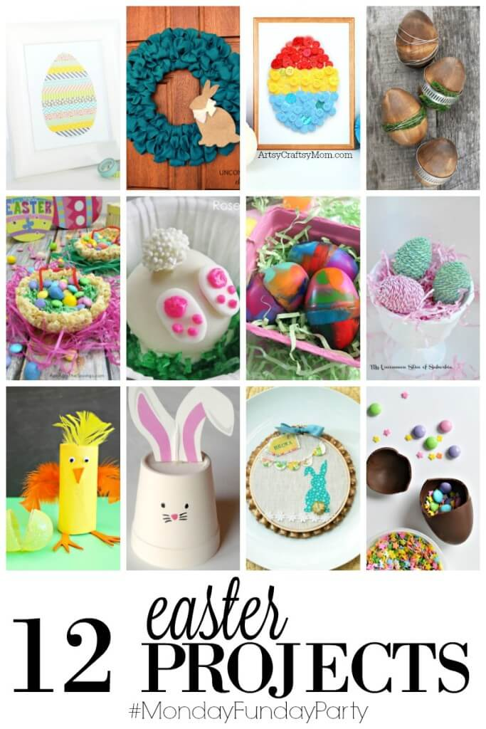 Easter Projects featured at Monday Funday Link Party
