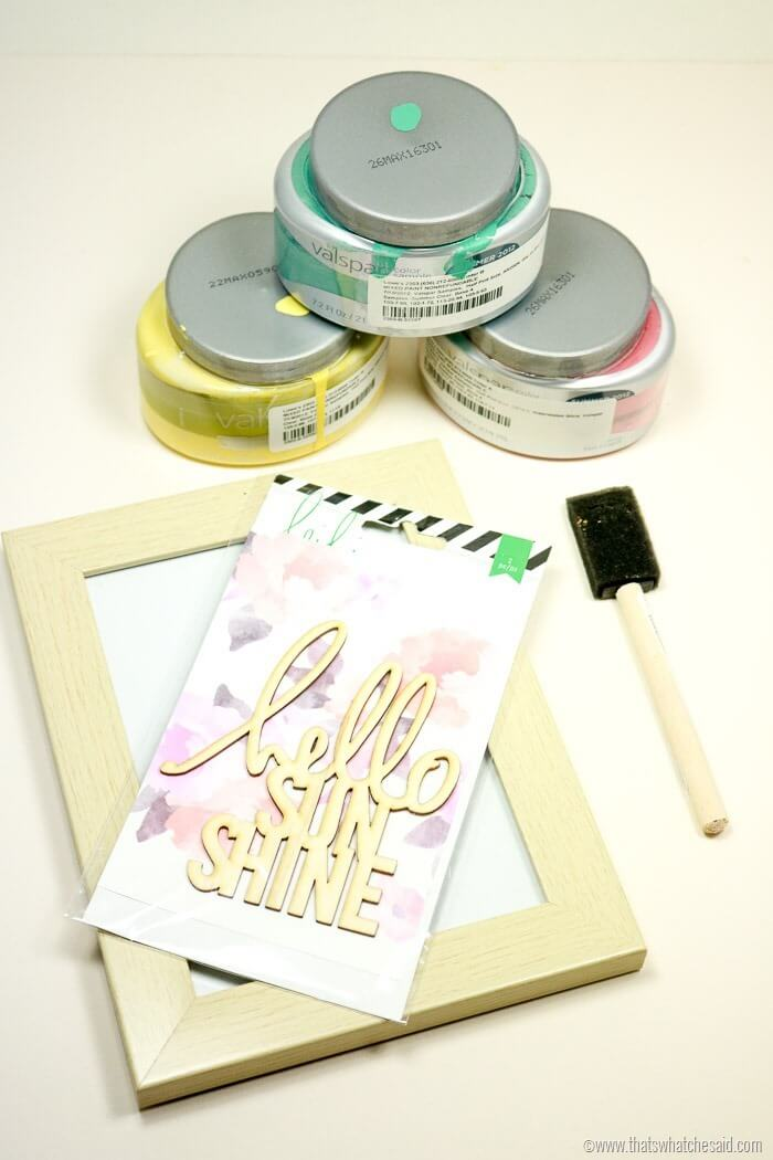 Hello Sunshine Easy Frame Project