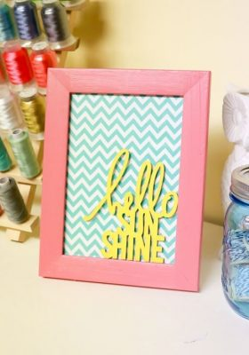 Hello Sunshine Quote Frame