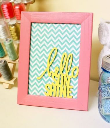 Hello Sunshine Quote Frame