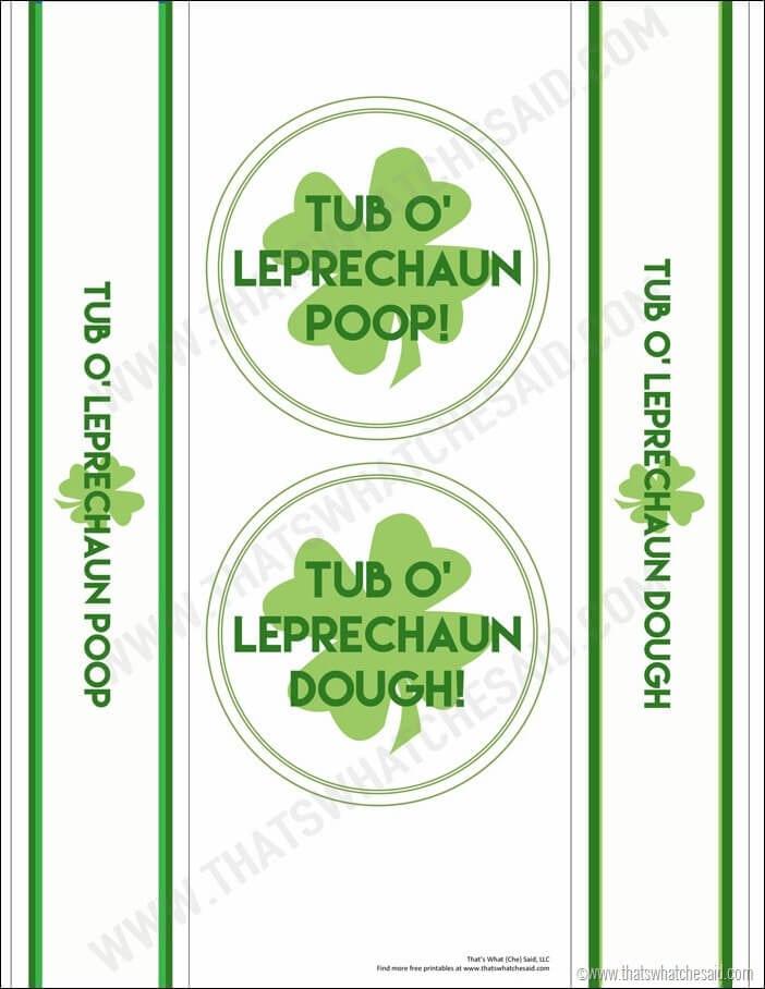 Leprechaun Dough Free Printable