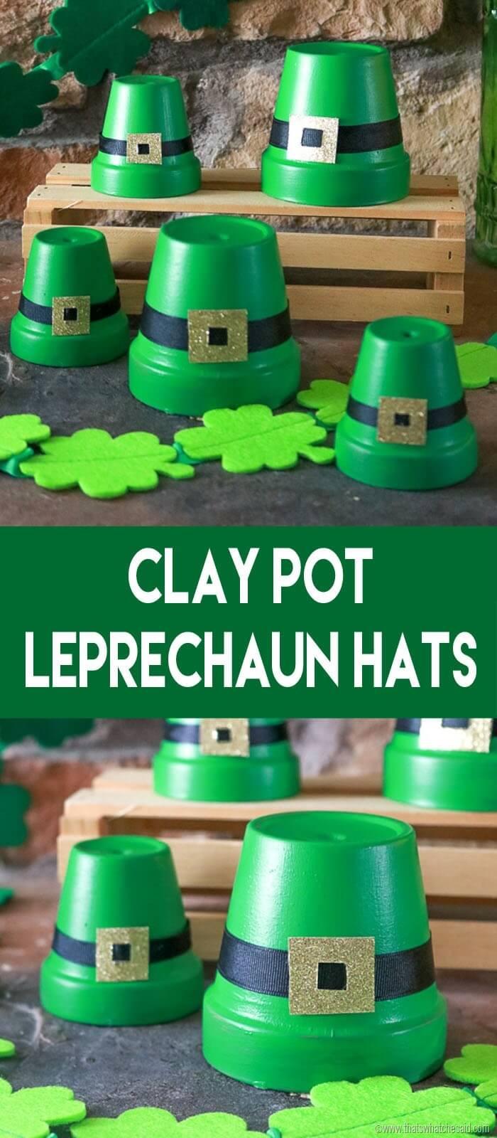 Leprechaun Hats made from clay pots