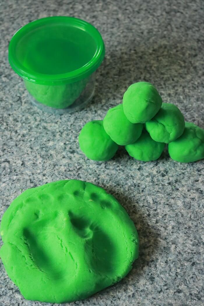 Leprechaun Poop Green Play Dough-2