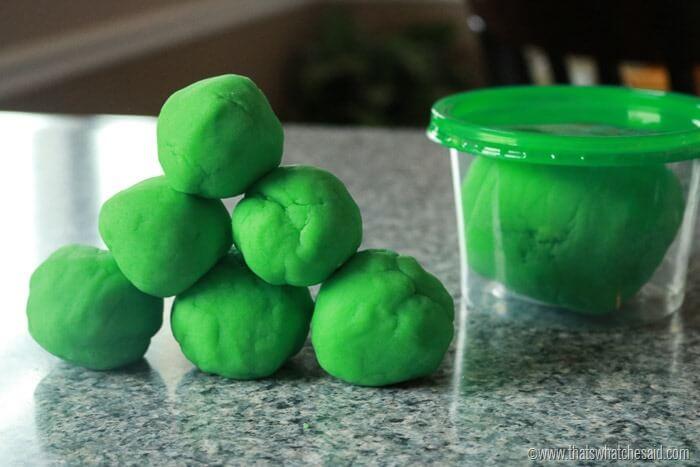 Green Play Dough Leprechaun Poop Free Printable