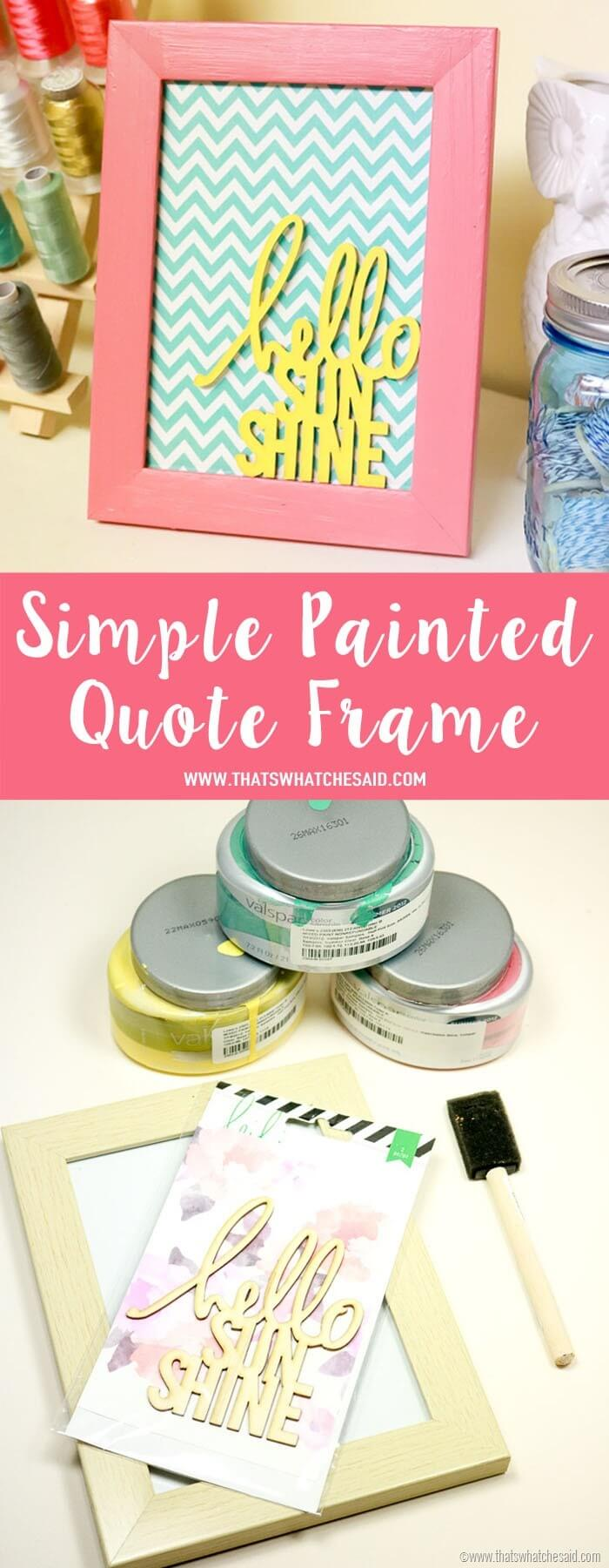 Painted Quote Frame