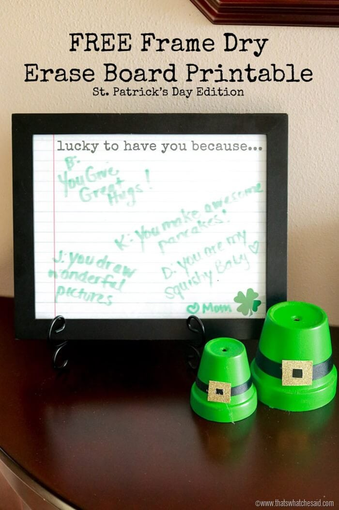 St. Patricks Day Affirmation Printable