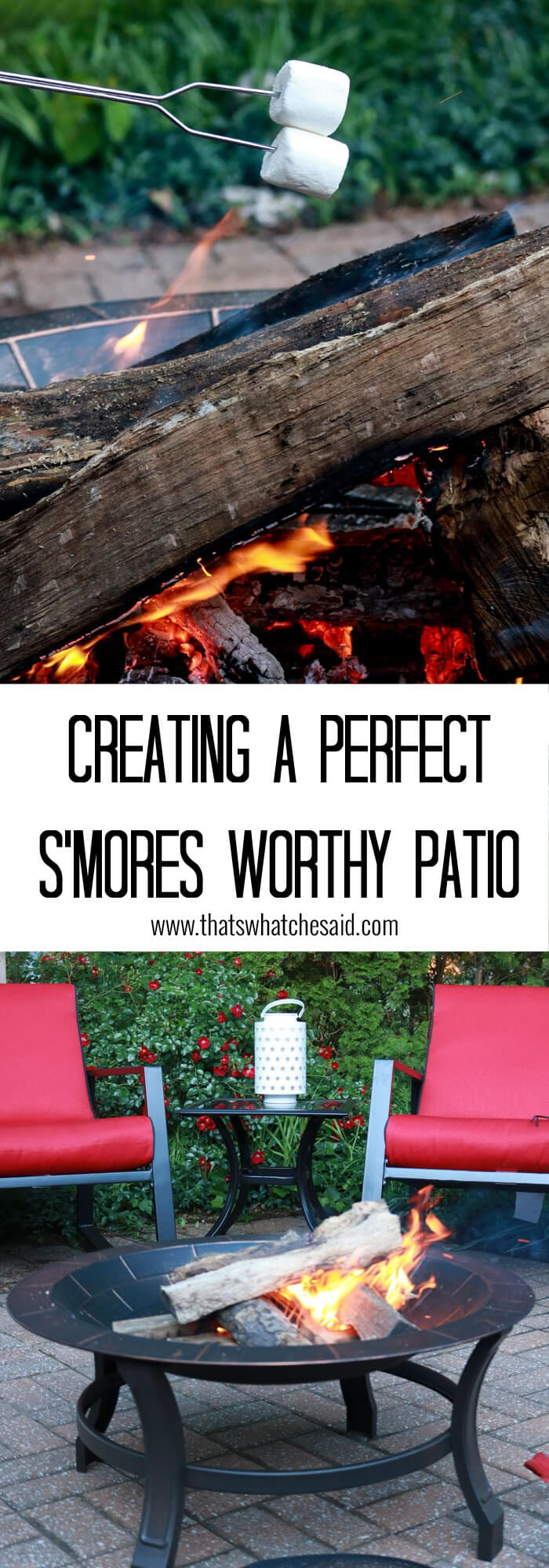 Perfect Patio that is S'more worthy!