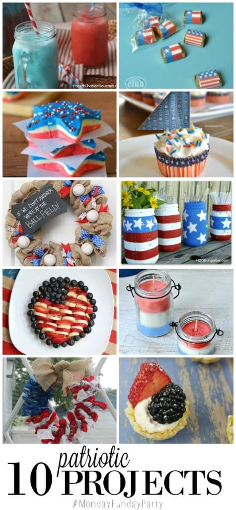Perfectly Patriotic Projects at Monday Funday Link Party