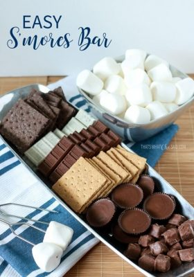 Fun, easy DIY S'mores Bar!