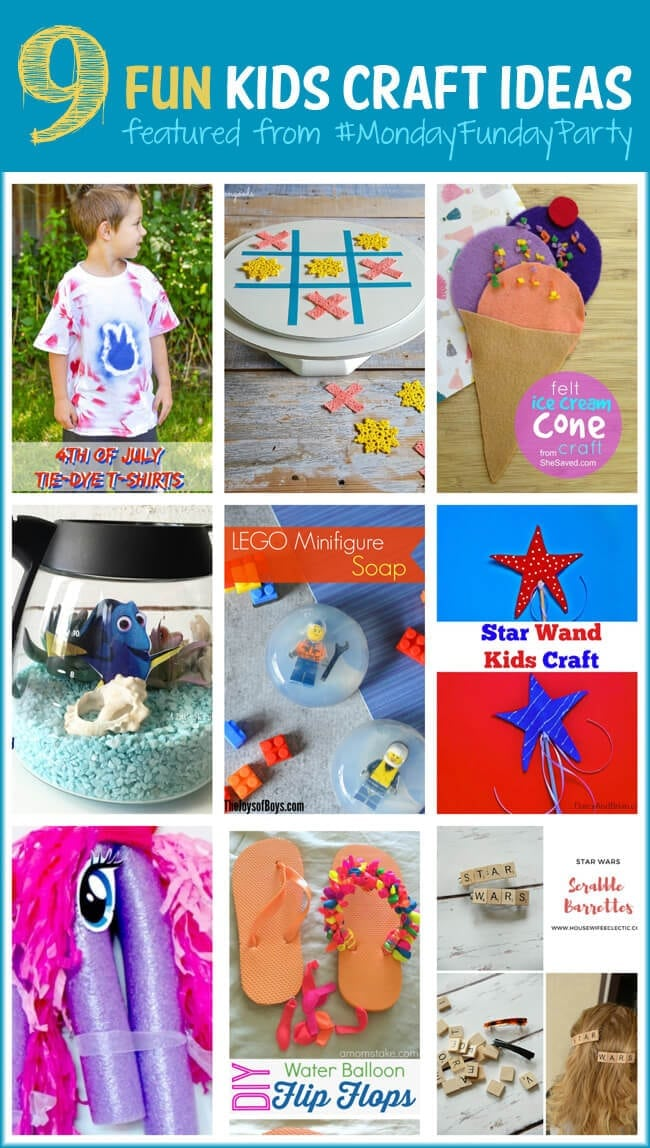 Summer Kids Craft Ideas at Monday Funday Link Party