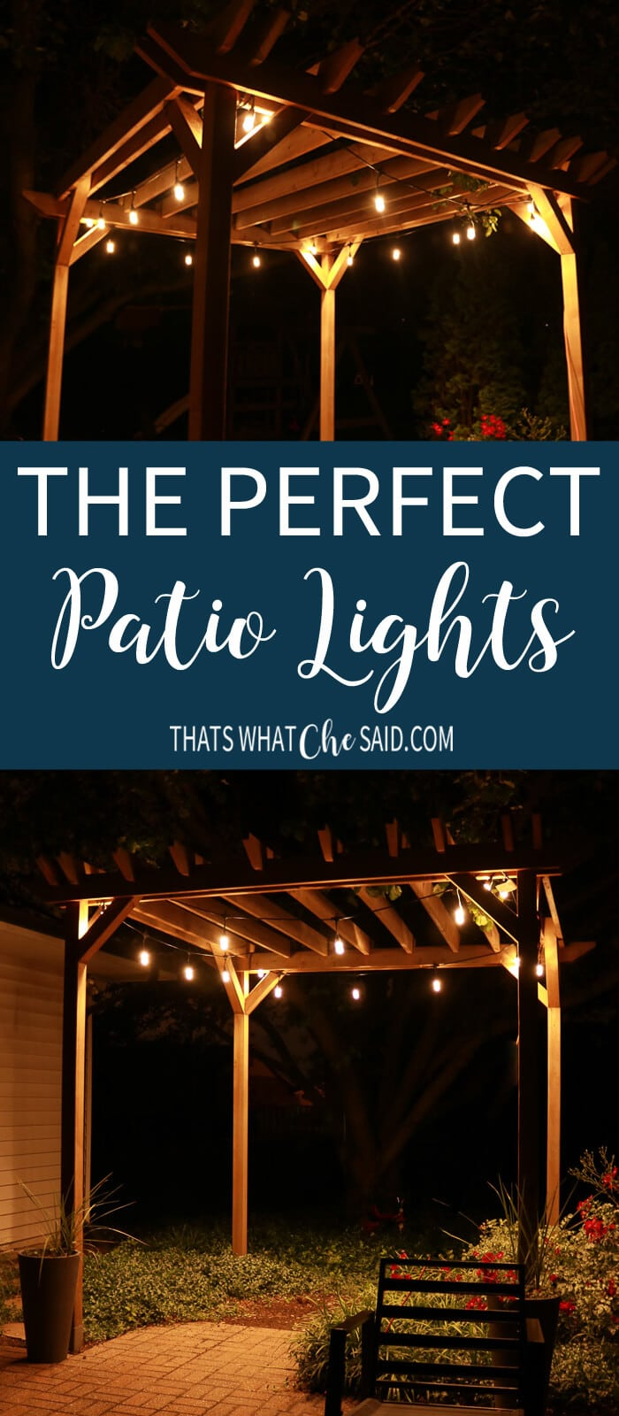 The Perfect Patio Lights