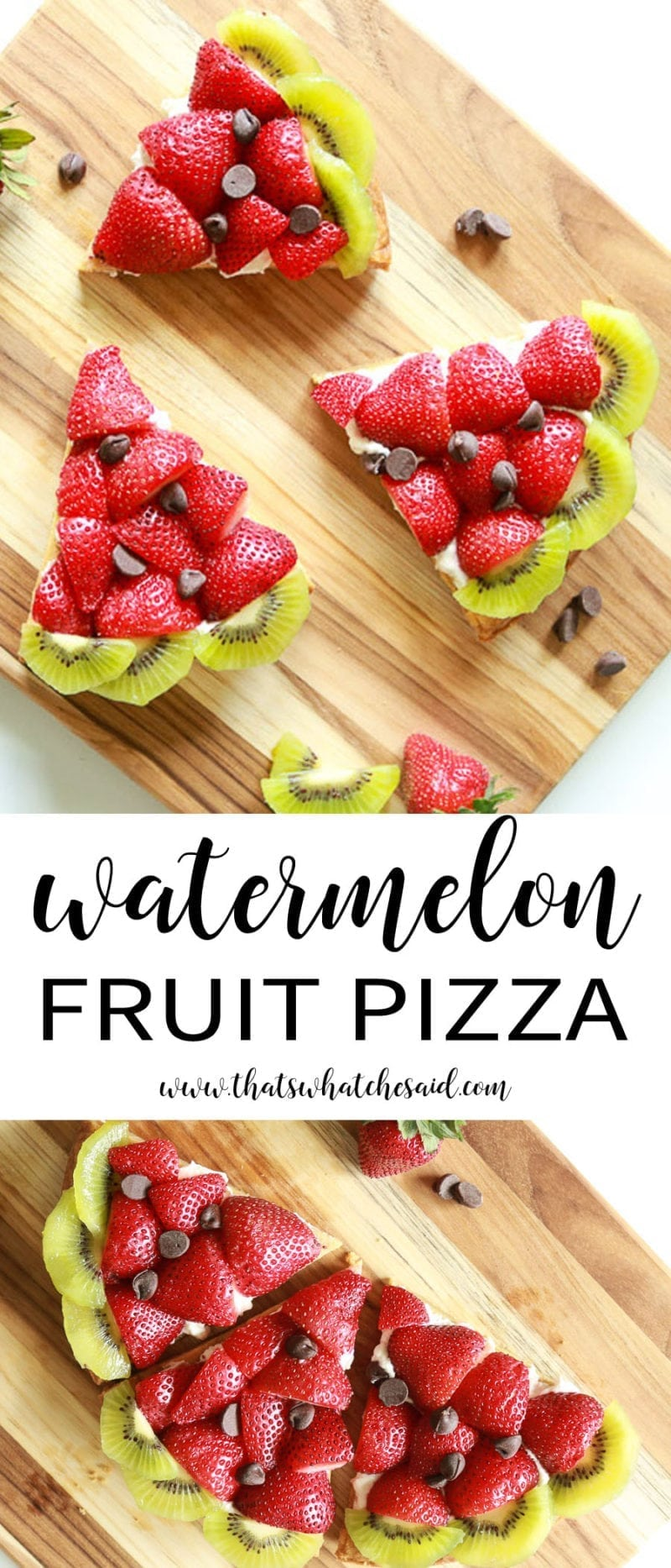 Easy to make Watermelon Fruit Pizza!