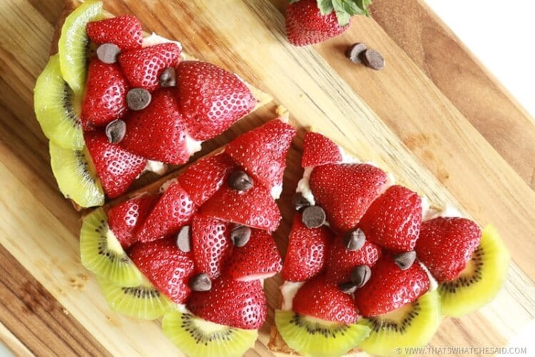 Fruit Pizza in the shame and likes of a watermelon! How fun for summer bbq's!