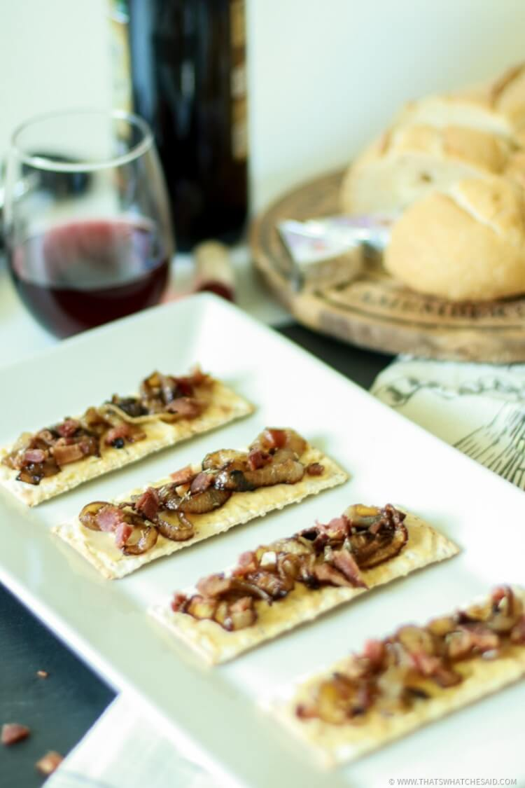 Bacon and Onion Tart Appetizer-9