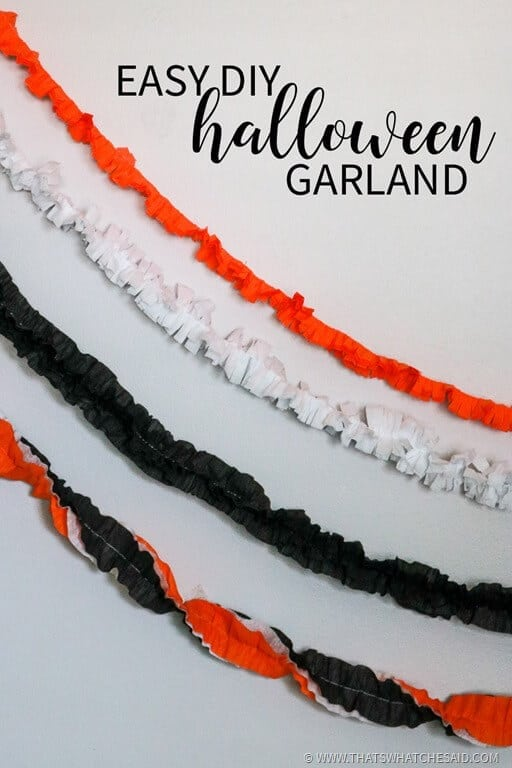 DIY Halloween Garland made from Crepe Paper!