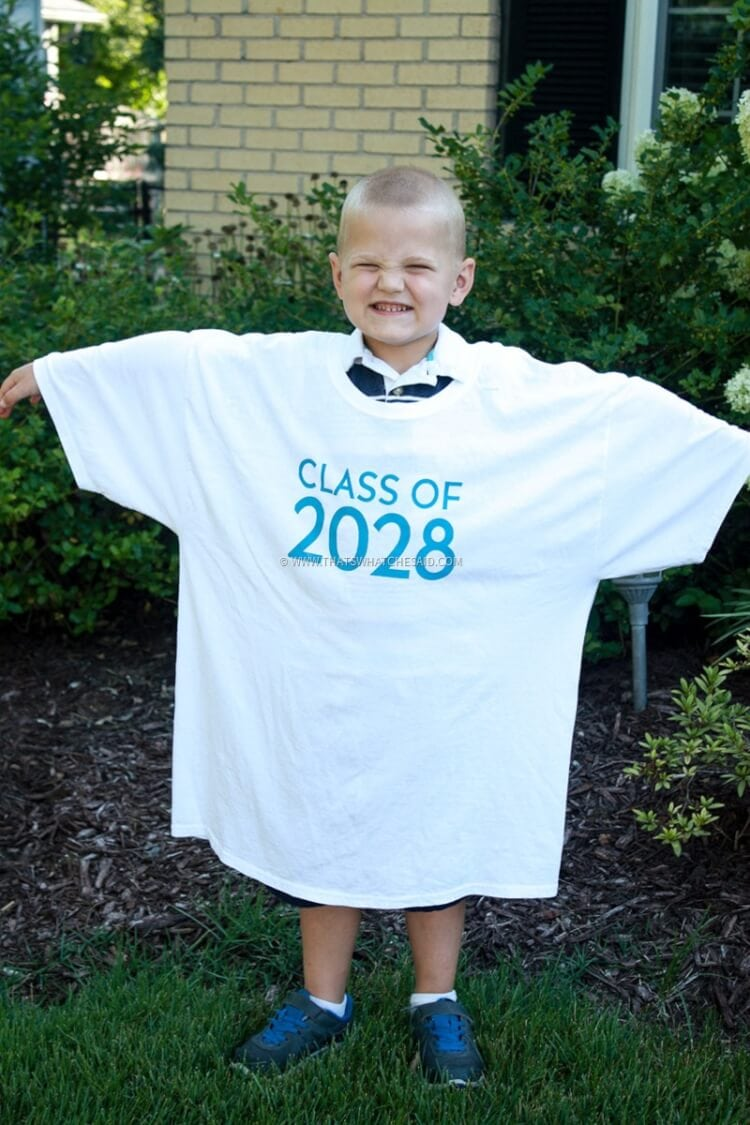 Easy Keepsake T-shirt for the first day of school
