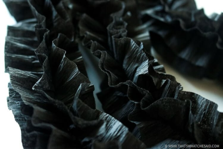 Halloween Garland- Fluffed ruffle garland