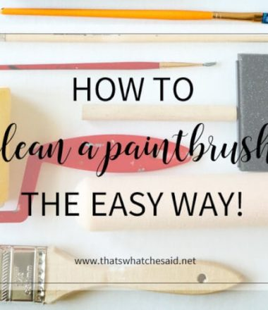 The easiest way to clean a paintbrush with no scrubbing!