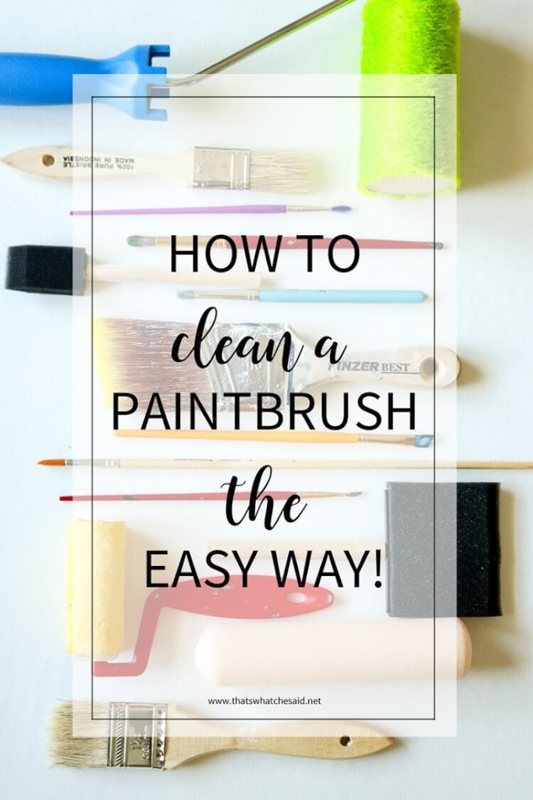 How to clean a paintbrush the easy way