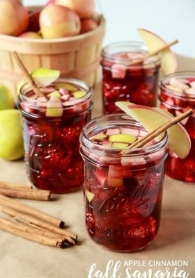 Easy Apple cinnamon Sangria Recipe