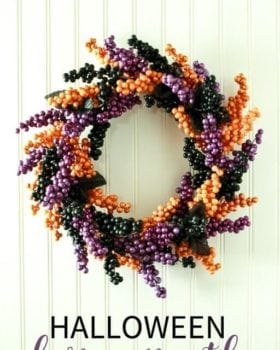 Halloween Berry Wreath Made from Dollar Store Materials!