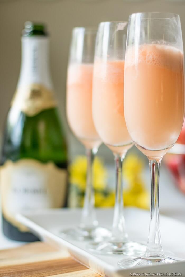 Brunch Mimosa over Sherbert