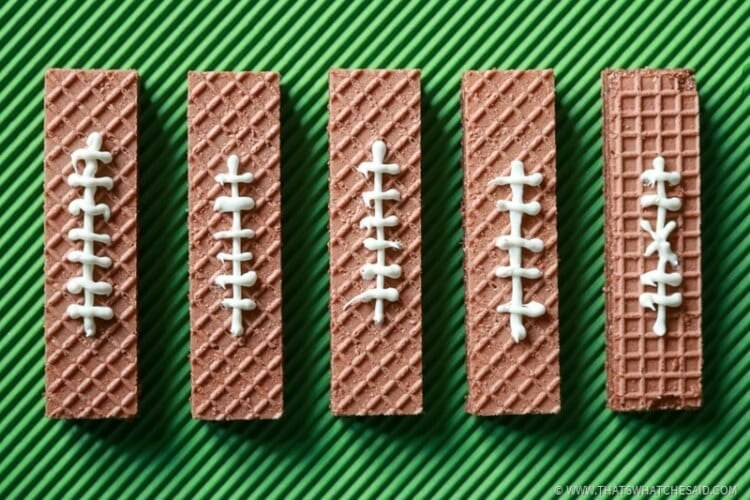 Chocolate Wafer Football Cookies