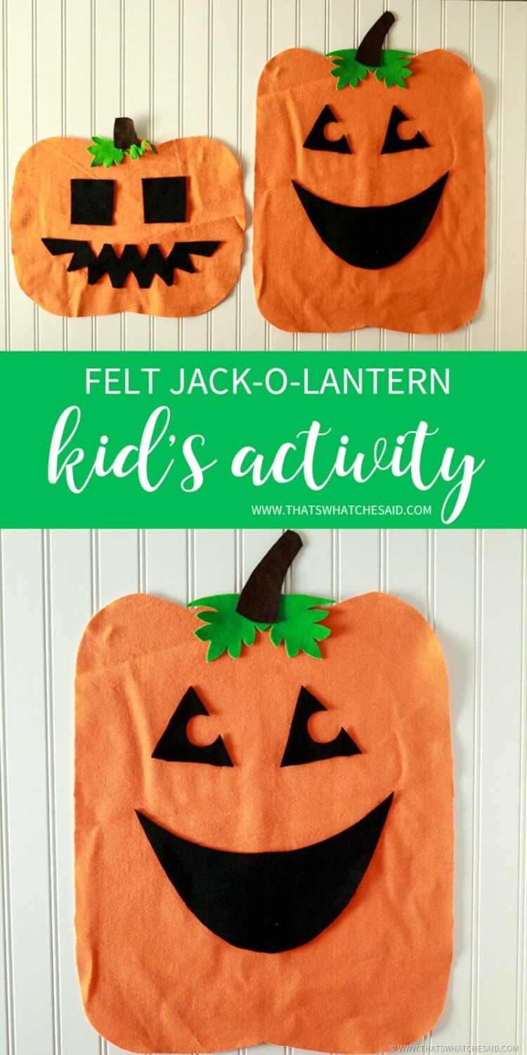 DIY Felt Pumpkin Halloween Kid's Activity