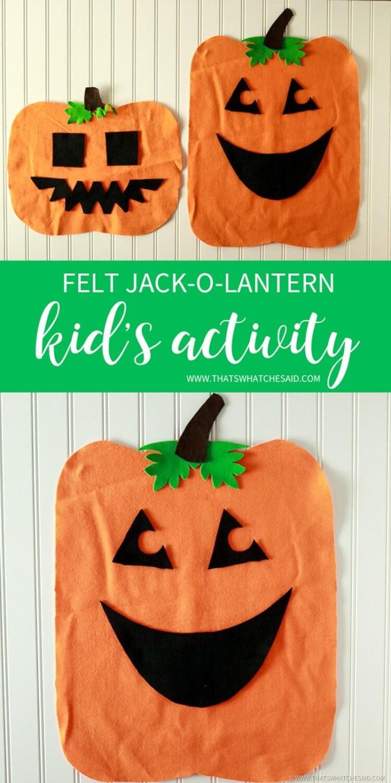 DIY Felt Pumpkin Halloween Kid's Activity