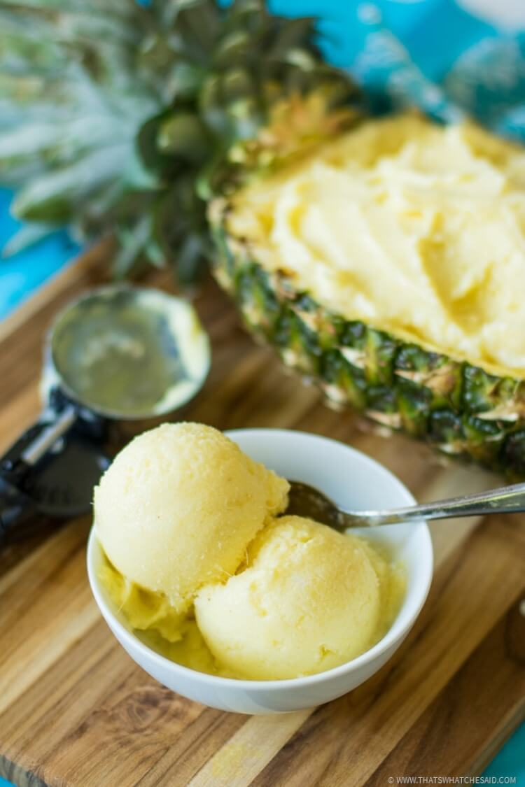 Easy Pineapple Frozen Yogurt Recipe - So easy and delicious!