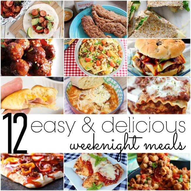 easy recipes that are perfect for busy weeknight dinner ideas!