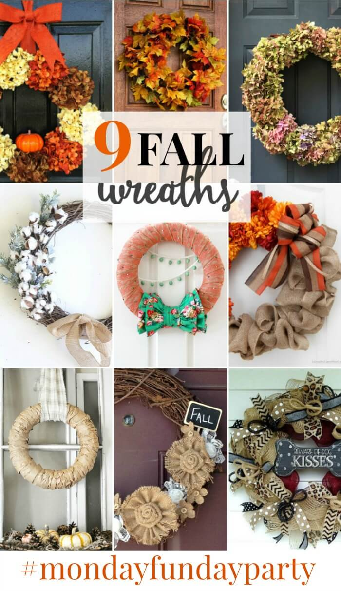 Fall Wreath features from Monday Funday Link Party at www.thatswhatchesaid.net