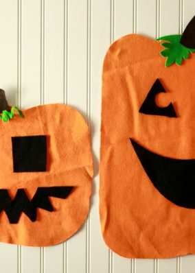 Felt Jack-O-Lantern Halloween Kids Activity