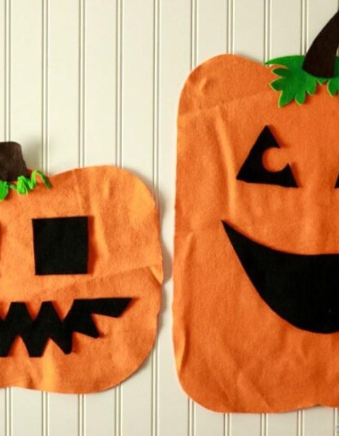 Felt Jack-O-Lantern Halloween Kids Activity