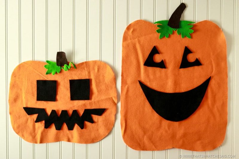 Felt Jack-O-Lantern Faces for Kids