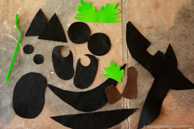 Felt Shapes for Jack-o-Lantern Kid's Activity
