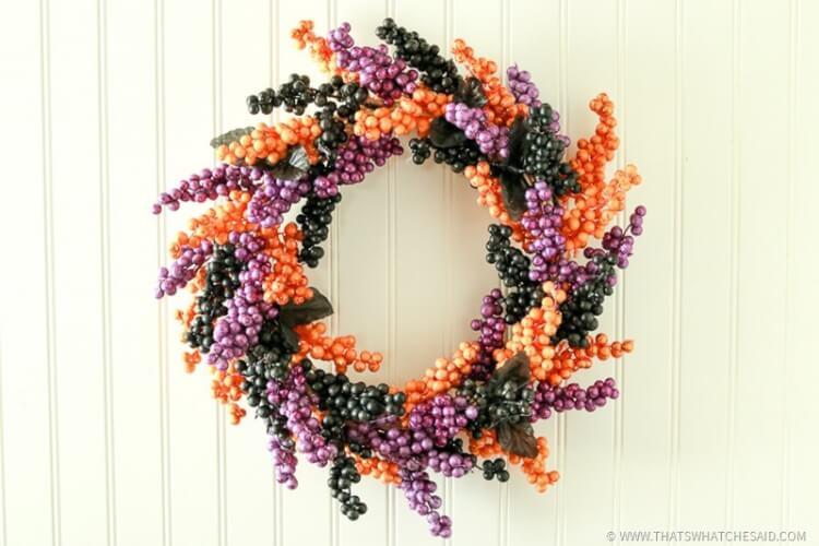 Halloween Berry Wreath