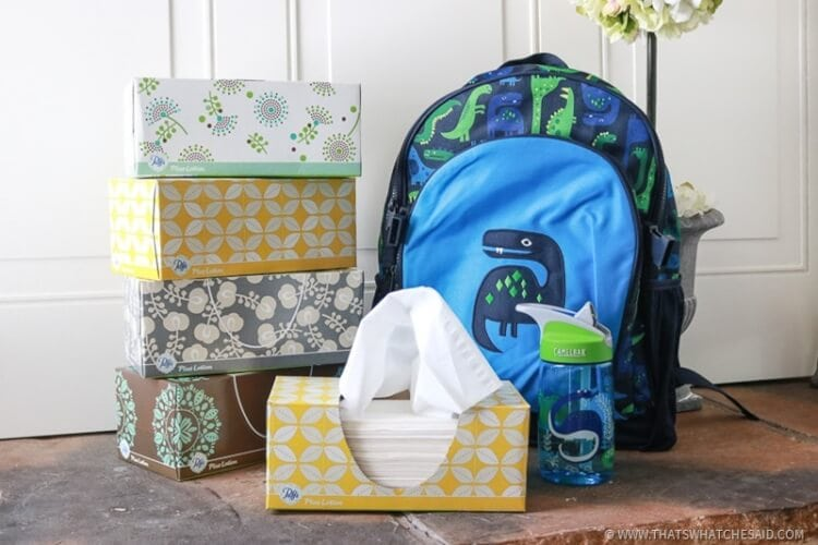 Puffs Plus Lotion Back to School