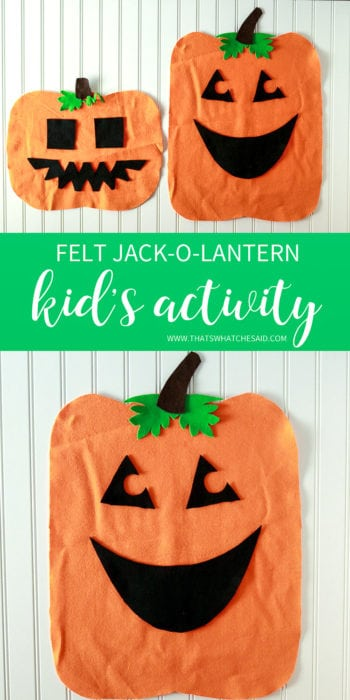 Felt Jack-o-Lantern Toddler Activity