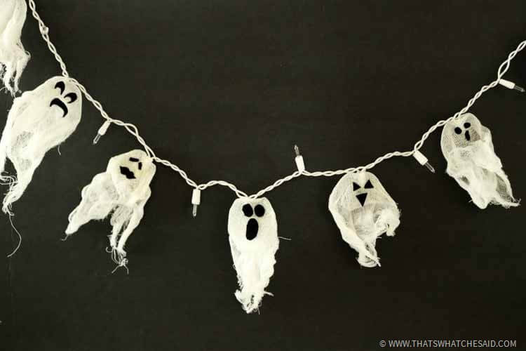 DIY Ghost Lights - DIY Halloween Decor Idea