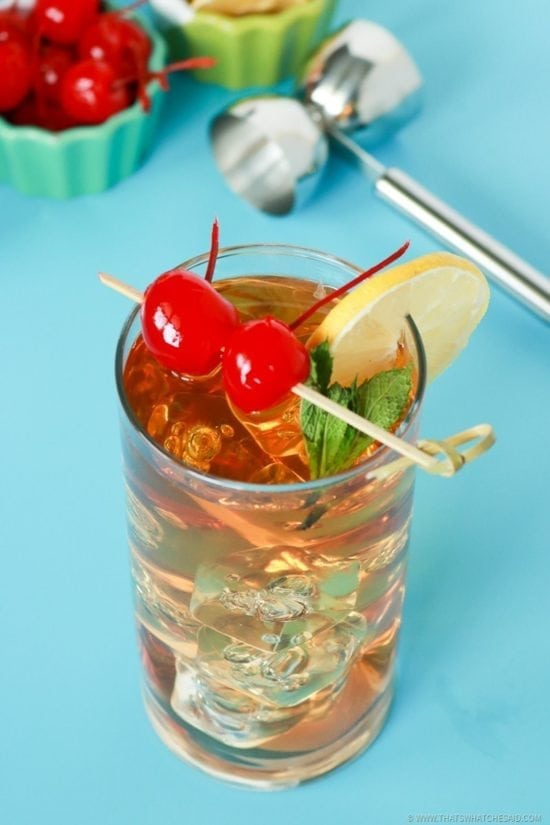 Green Sweet Tea Kentucky Cousin Cocktail Recipe