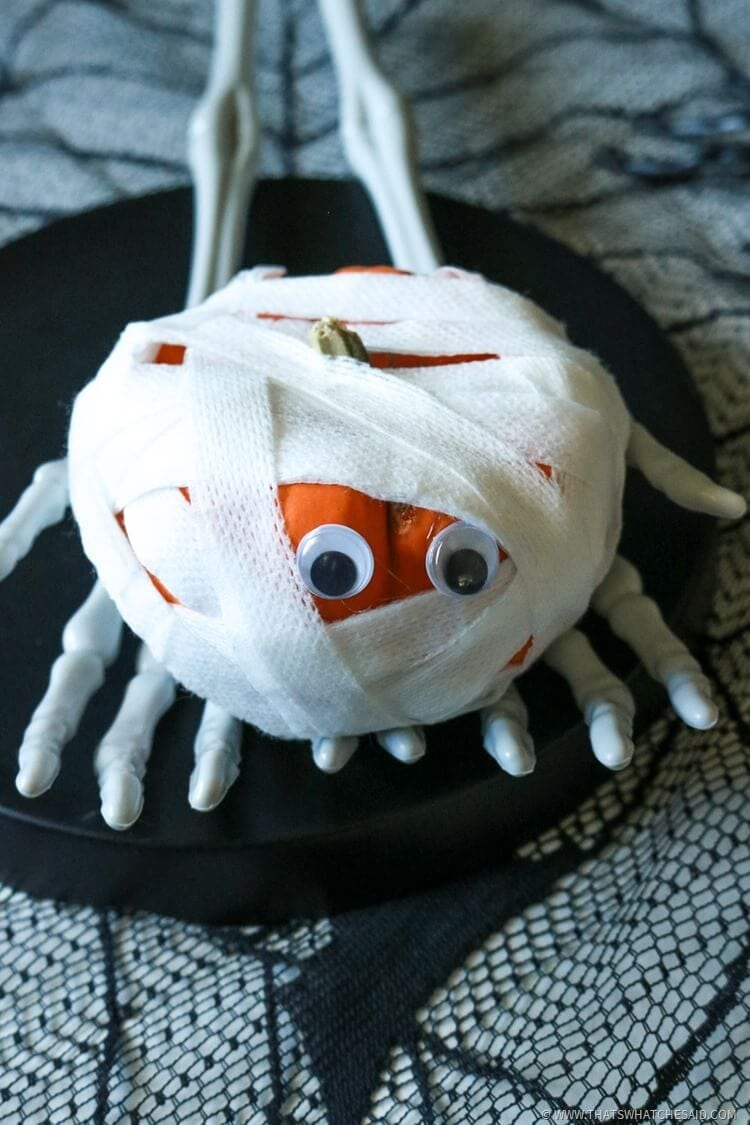 Halloween Kids Activity - Mummy Pumpkin