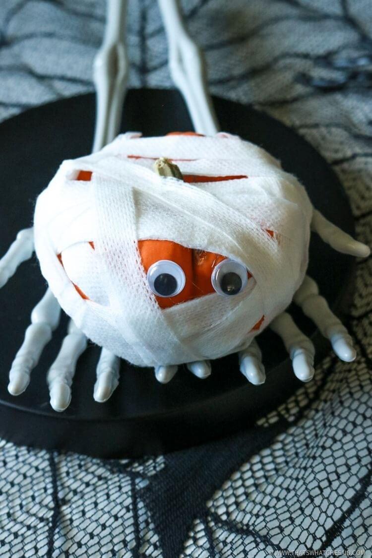 Halloween Kids Activity - Mummy Pumpkin