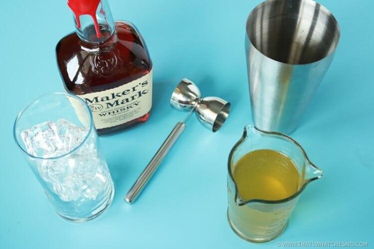 Ice Bourbon and Green Tea