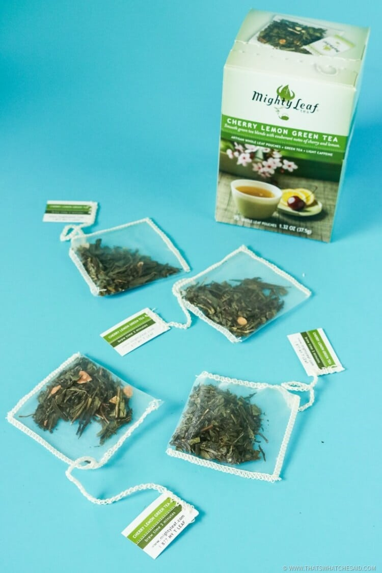 Lemon Cherry Green Tea Bags