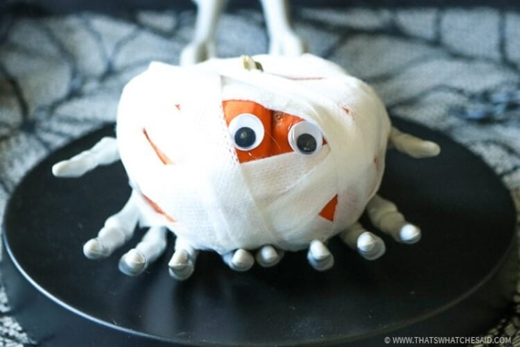 Mini Pumpkin Mummies Kids Activity