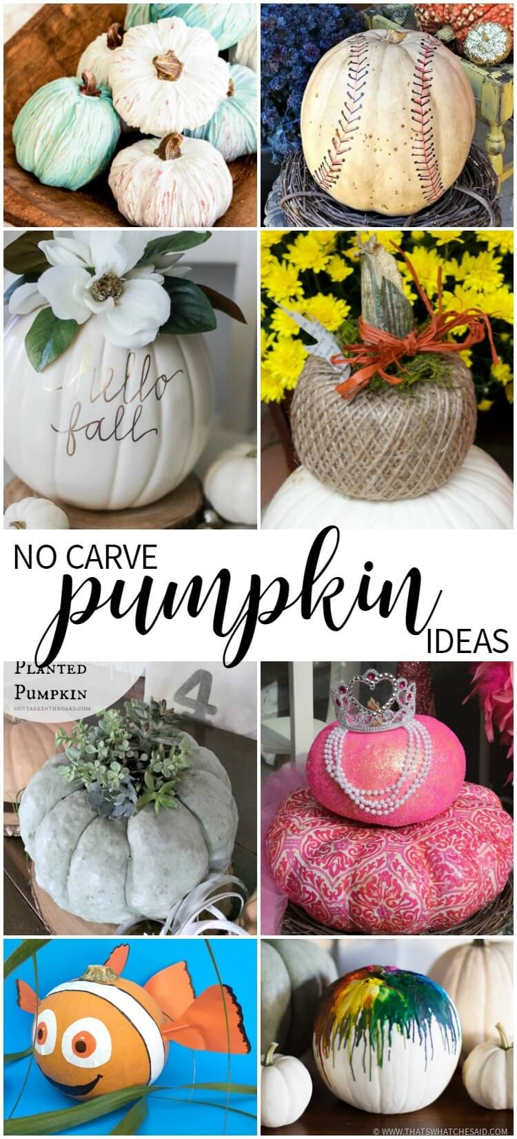 No Carve Pumpkin Ideas at Monday Funday Link Party